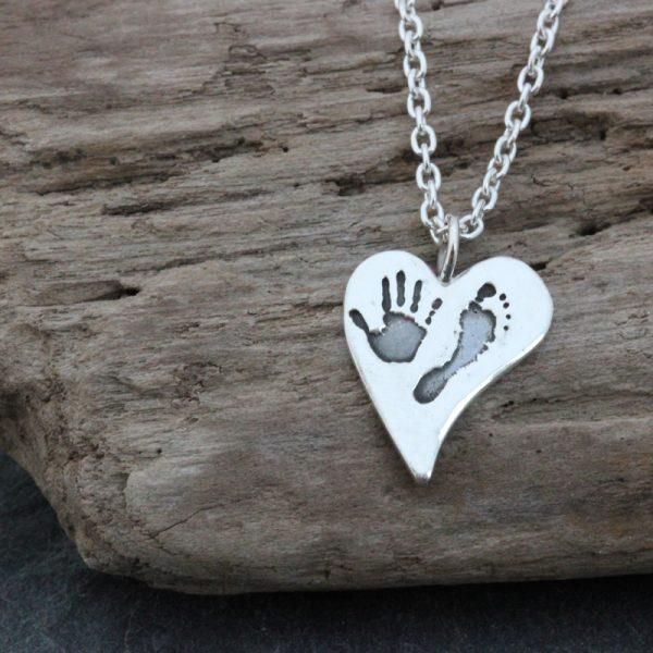 inSilver Medium Squishy Heart Pendant