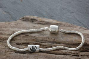 Pandora Style Handprint Bead