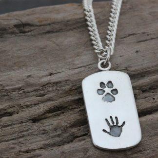 Handprint Dogtag